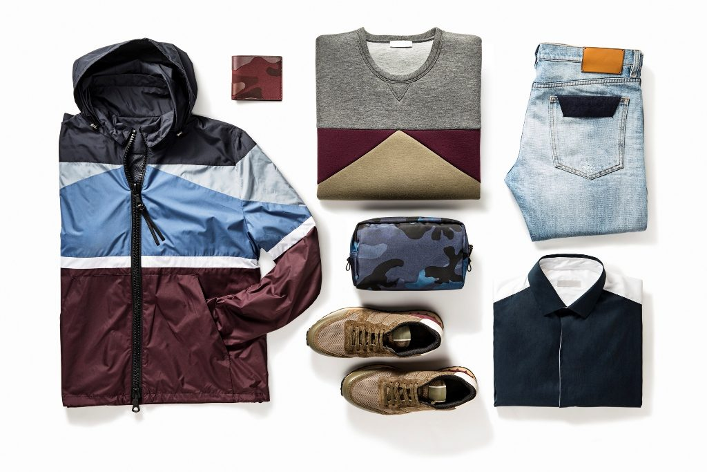 Flatlay of clothes for men