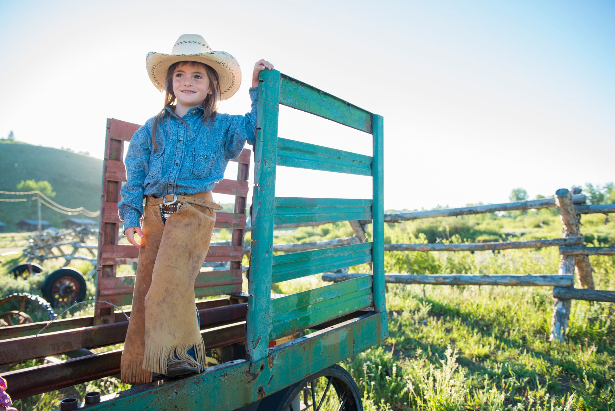 Little girl in a cowgirl costume